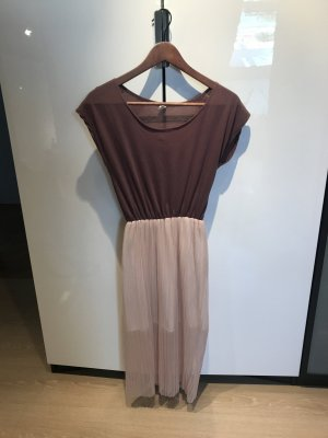 Abito elasticizzato color oro rosa-grigio-lilla