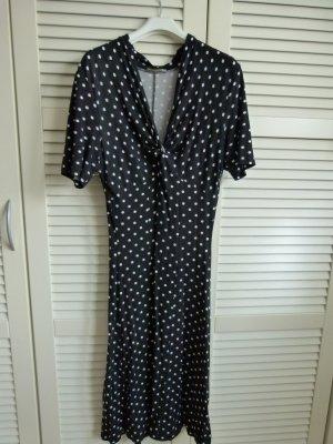 Kleid mit Punkten polka dots schwarz Größe M