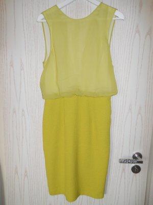 Kleid mit Rückenausschnitt in Limettengelb
