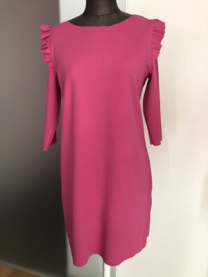 Kleid mit Rüschen  Gr 38 40 S M Etuikleid Jersey Look