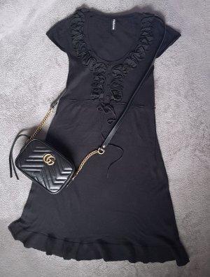 Kleid mit Rüschen kurz Schwarz Gr. XS