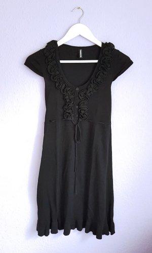 Kleid mit Rüschen kurz Schwarz Neu Gr. XS