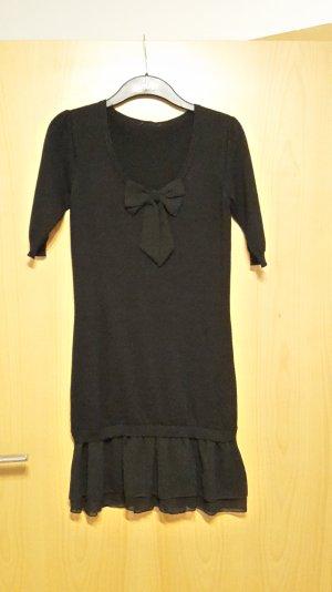 Kleid mit Rüschen und Schleife, schwarz, Gr. 34