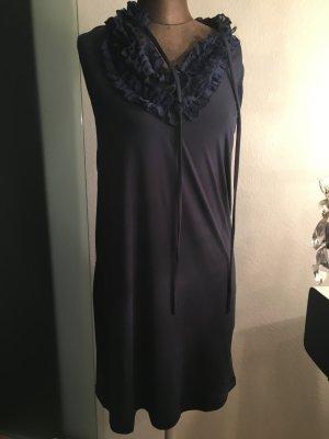Kleid mit Rüschen von Elle Gr 40 42 M, blau
