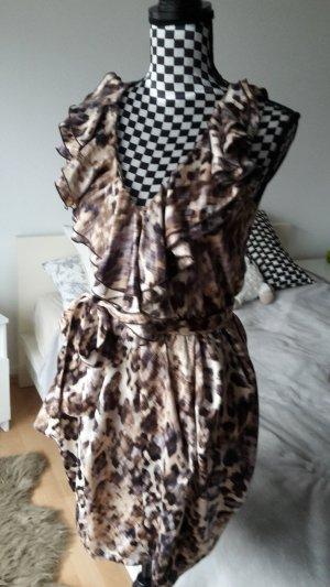 Kleid mit Rüschenkragen und Gürtel