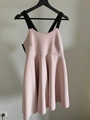 Babydoll-jurk zwart-lichtroze
