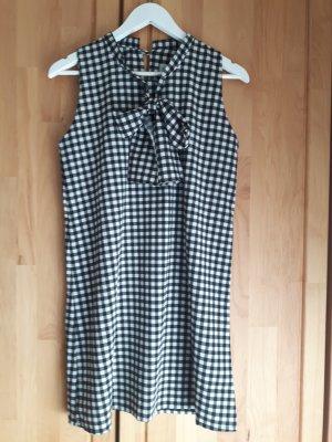 Kleid mit Schluppe schwarz weiß kariert Gr. S Compania Fantastica