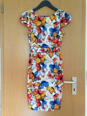 Kleid mit Schmetterlingen aus Baumwolle