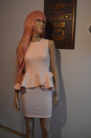 Kleid mit Schößchen / Peplum Kleid Nude