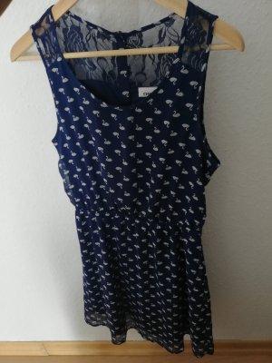 Kleid mit Schwänen