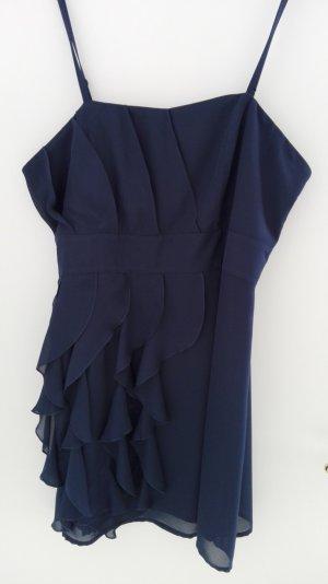 Kleid mit Spaghettiträgern nachtblau
