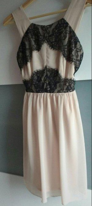 Asos Kanten jurk zwart-lichtroze