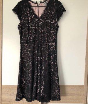 H&M Robe de soirée noir-or rose