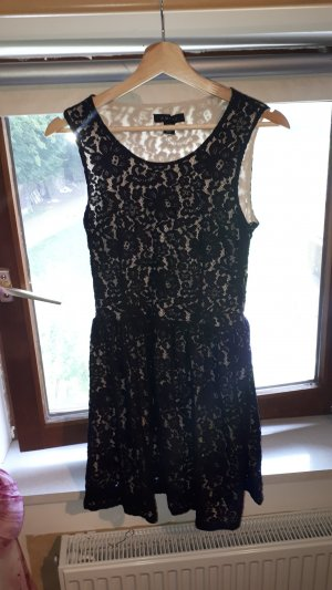 Amisu Lace Dress black-cream