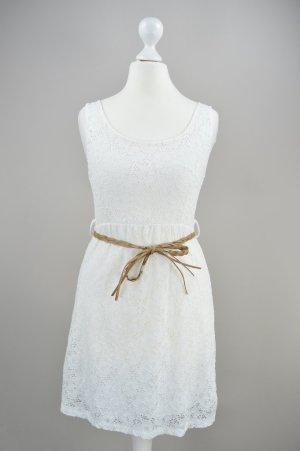 Kleid mit Spitze creme Größe S