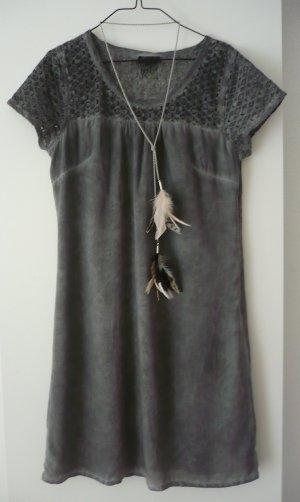 Kleid mit Spitze, gewaschener used-look, größe 38, Tom Tailor