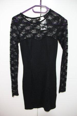Kleid mit Spitze, H&M, Gr. 34, neu, schwarz