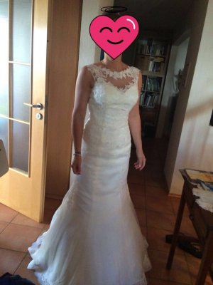 Kleid mit Spitze Meerjungfrauenschnitt