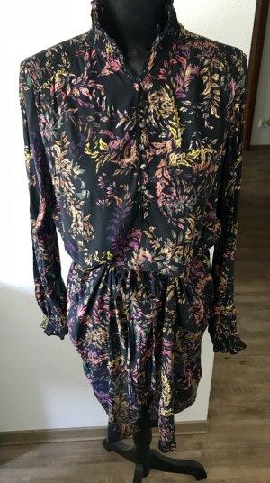 Kleid mit Stehkragen und floralem Print