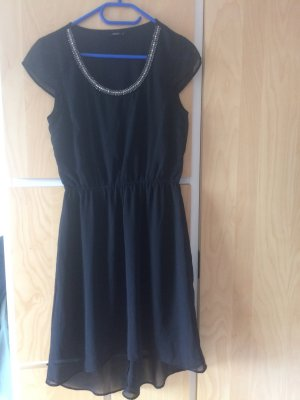 Only Vestido mullet negro-color plata