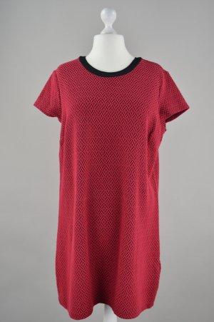 Kleid mit Struktur rot Größe 44