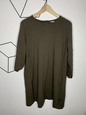 H&M Mini-jurk groen-grijs