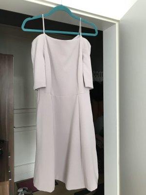 H&M Off the shoulder jurk grijs