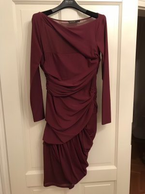 Supertrash Abito cut out bordeaux