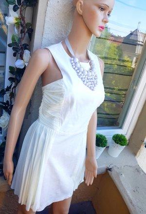 Kleid mit tüll in Weiss/Creme Gr.36/38