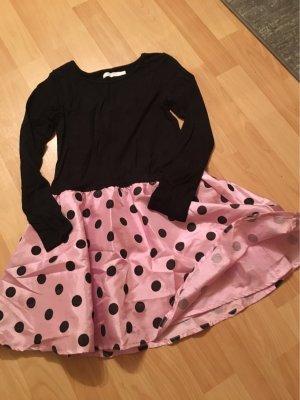 Babydoll Dress black-light pink