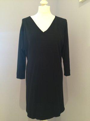 Kleid mit V- Ausschnitt schwarz (Pulloverkleid)