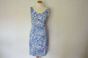 Prada Sheath Dress blue-white mixture fibre