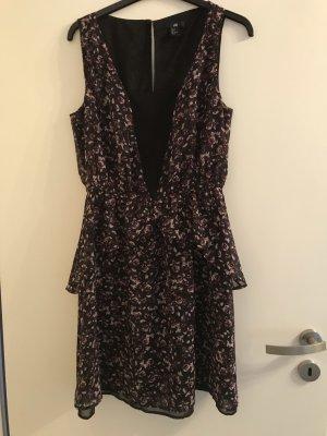H&M Volante jurk veelkleurig