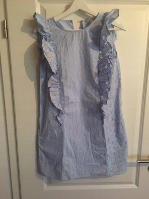 H&M Vestido estilo flounce azul celeste-rojo claro