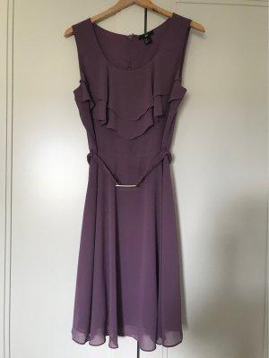 H&M Vestido estilo flounce violeta grisáceo