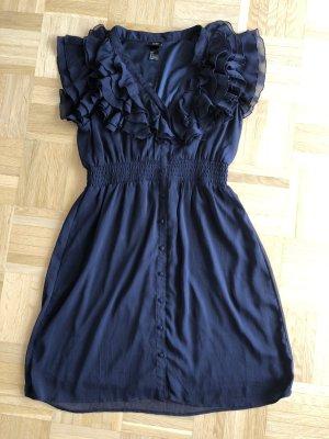 Kleid mit Voltans, blau, Gr. 38, H&M