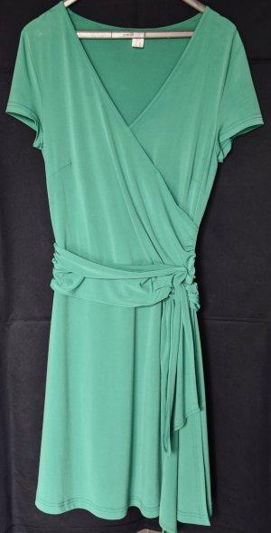 Apart Robe à manches courtes vert polyester