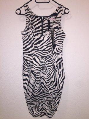 Kleid mit Zebrastreifen