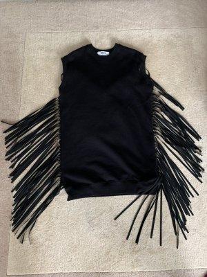MSGM Robe à franges noir