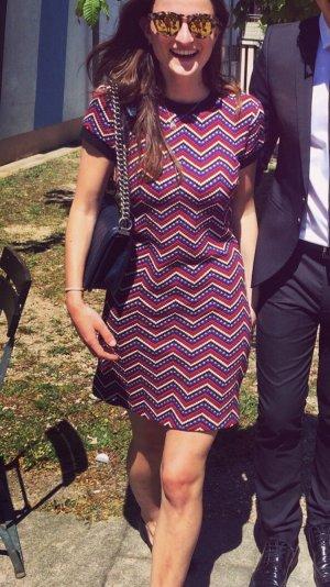 Kleid Muster blau schwarz rot XS
