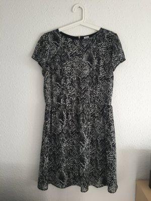 Kleid Muster Schwarz Weiß
