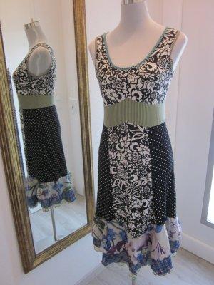 Kleid Mustermix Viskose Gr 38  schwarz weiss