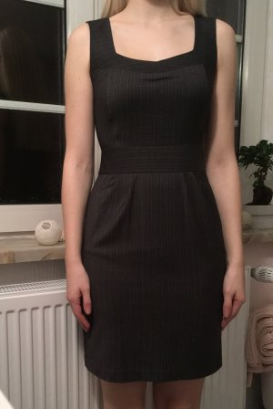 Kleid Nadelstreifen Anthrazit
