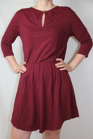 Vestido de tela de sudadera burdeos Algodón