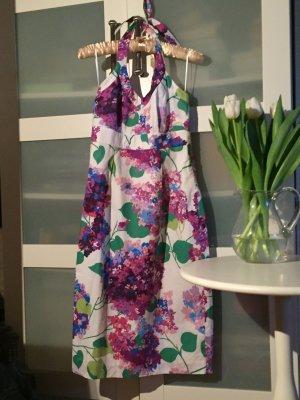 Kleid, Neckholder, Boden, Blumen