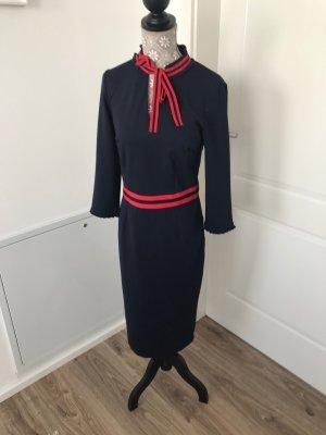Kleid -neu - dunkelblau rot