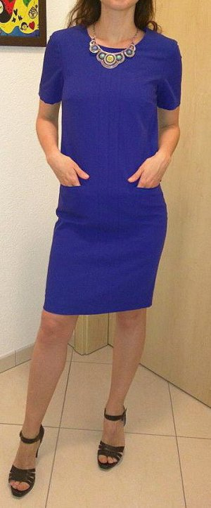 Madeleine Manteljurk blauw