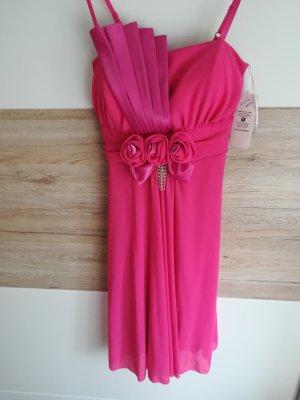 Kleid Neu mit Preisschild aus Italien elegant, Rosen, Steinchen