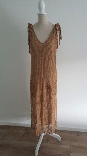 Zara Knit Abito jersey color cammello
