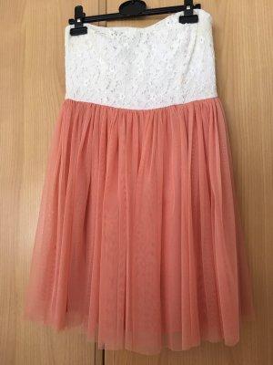FB Sister Bandeau Dress white-apricot